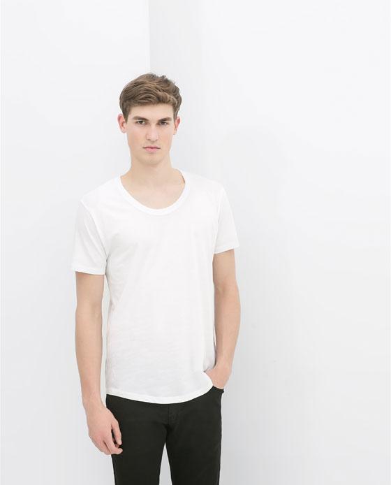 Denim-T-shirt évasé