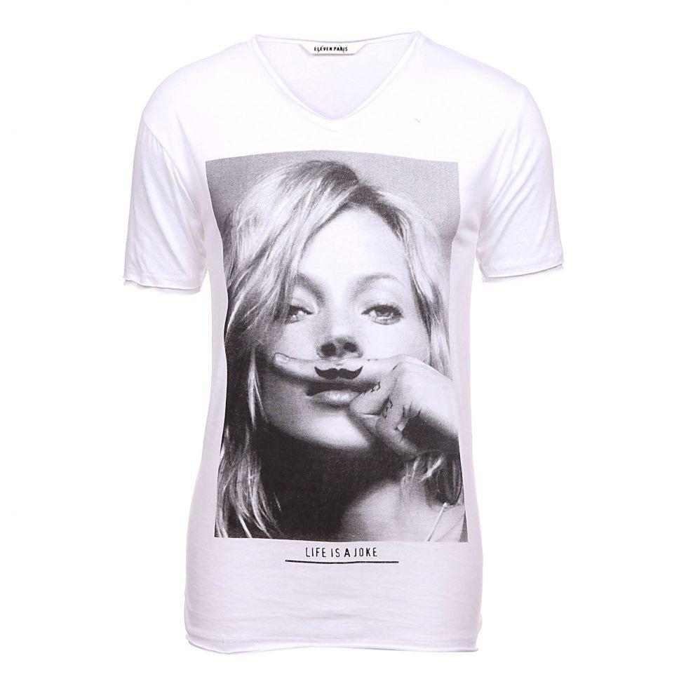 Denim-T-shirt-imprimé