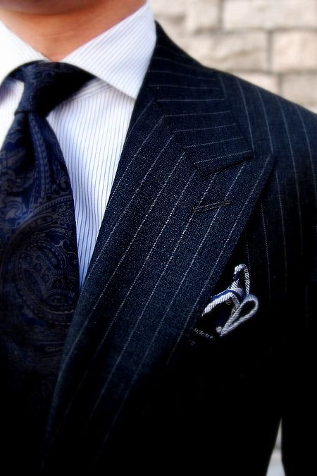 Avoir-bon-style-costume-rayé